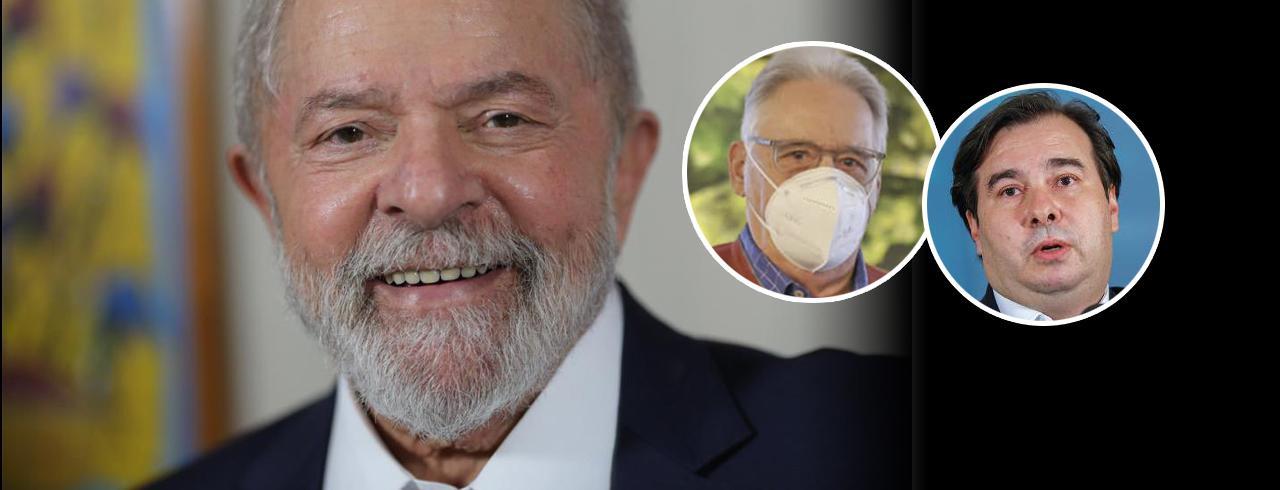 Lula, FHC e Rodrigo Maia