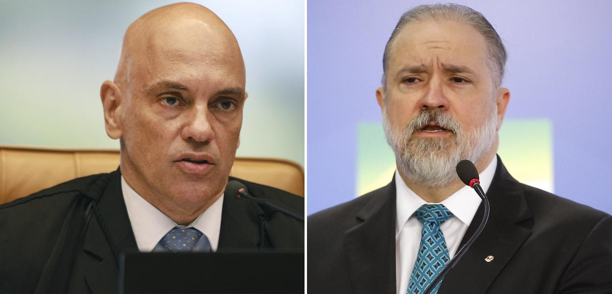 Alexandre de Moraes e Augusto Aras