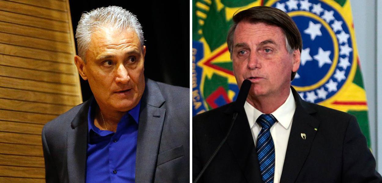 Tite e Jair Bolsonaro