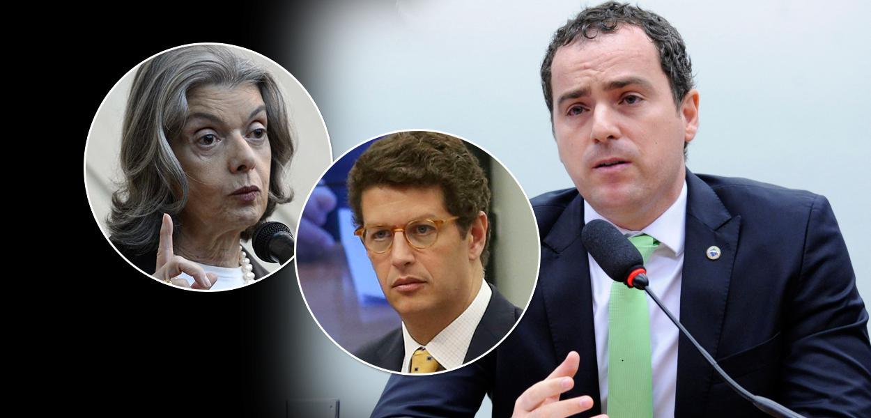 Cármen Lúcia, Ricardo Salles e Eduardo Bim