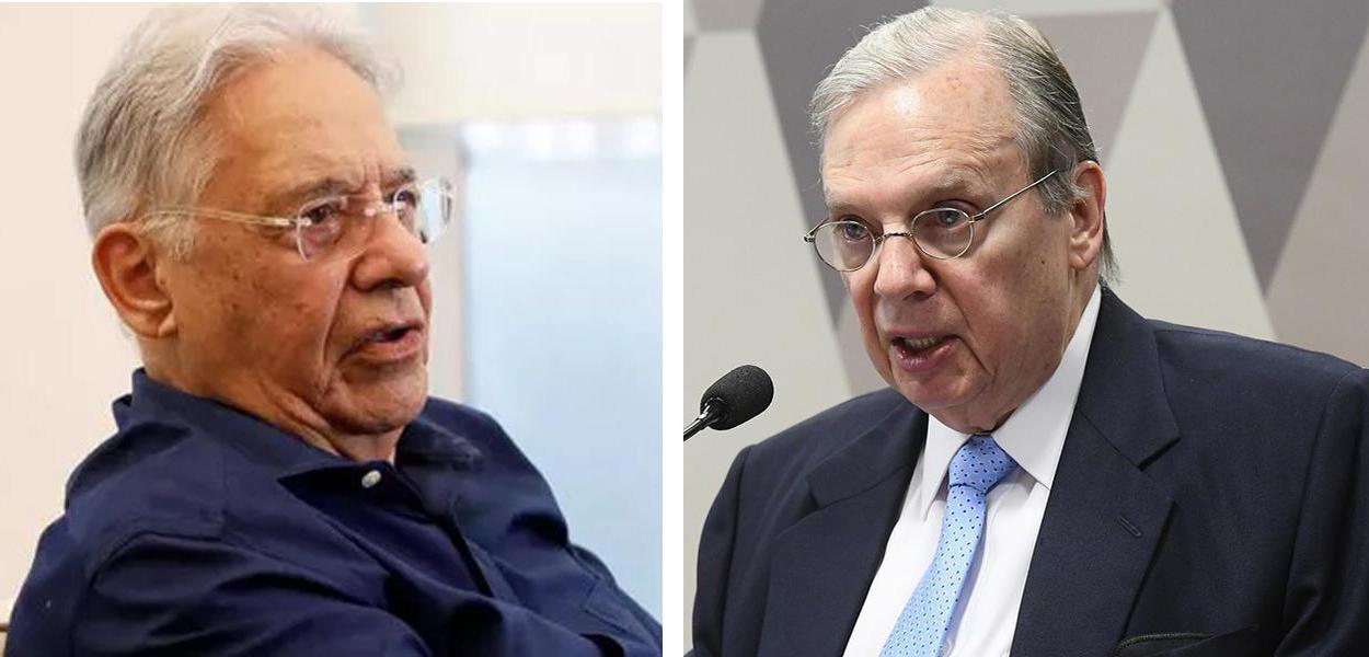 Ex-presidente Fernando Henrique Cardoso e Tasso Jereissati