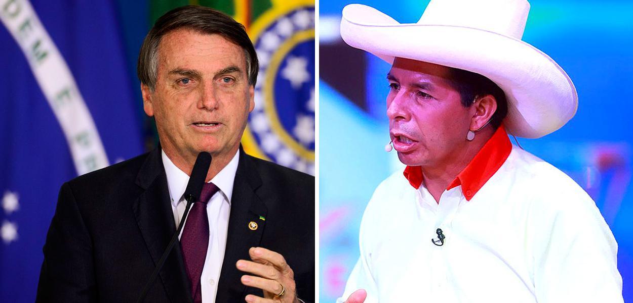 Jair Bolsonaro e Pedro Castillo