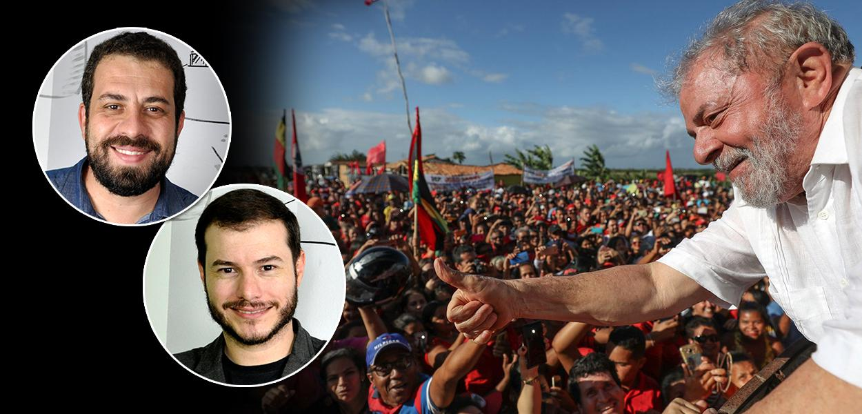 Guilherme Boulos, Juliano Medeiros e Lula