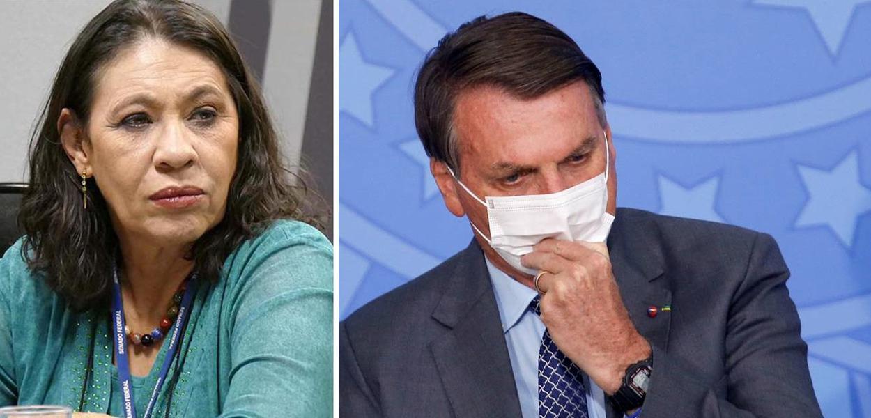 Tereza Cruvinel e Bolsonaro
