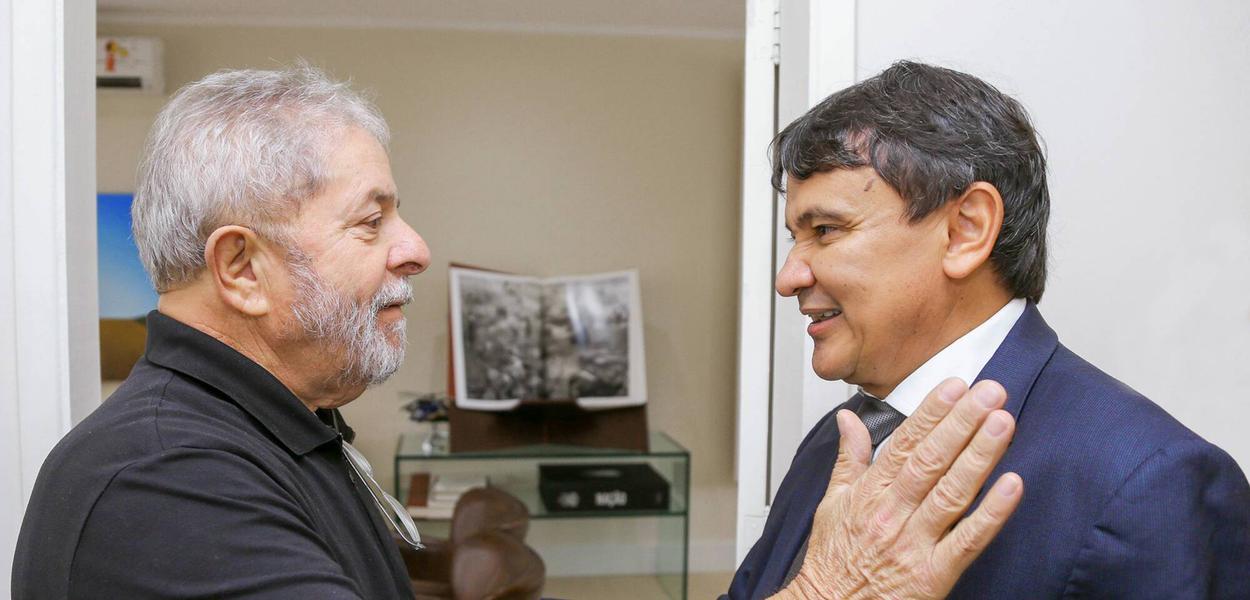 Ex-presidente Lula e o governador do Piauí, Wellington Dias