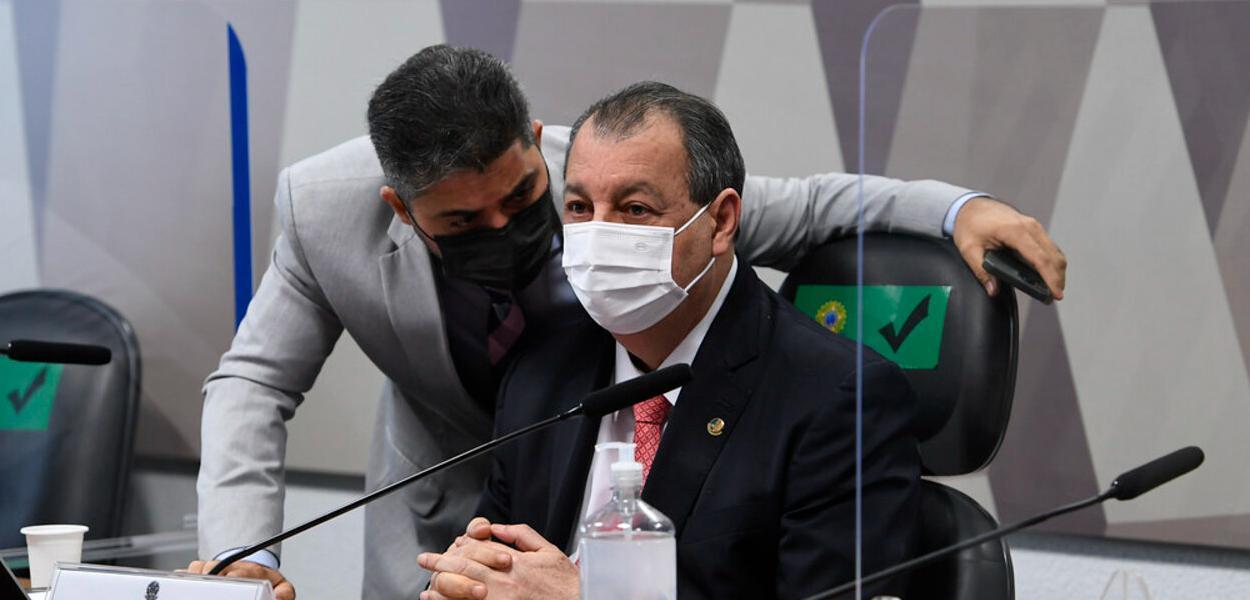 Marcos Rogério e Omar Aziz
