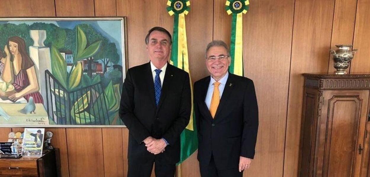 Jair Bolsonaro e Marcelo Queiroga