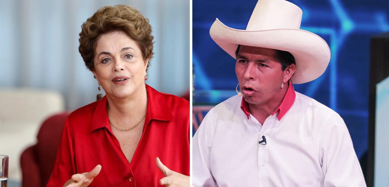 Dilma Rousseff e Pedro Castillo