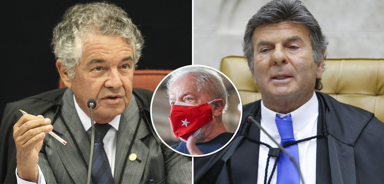 Marco Aurélio, Luiz Fux e Lula