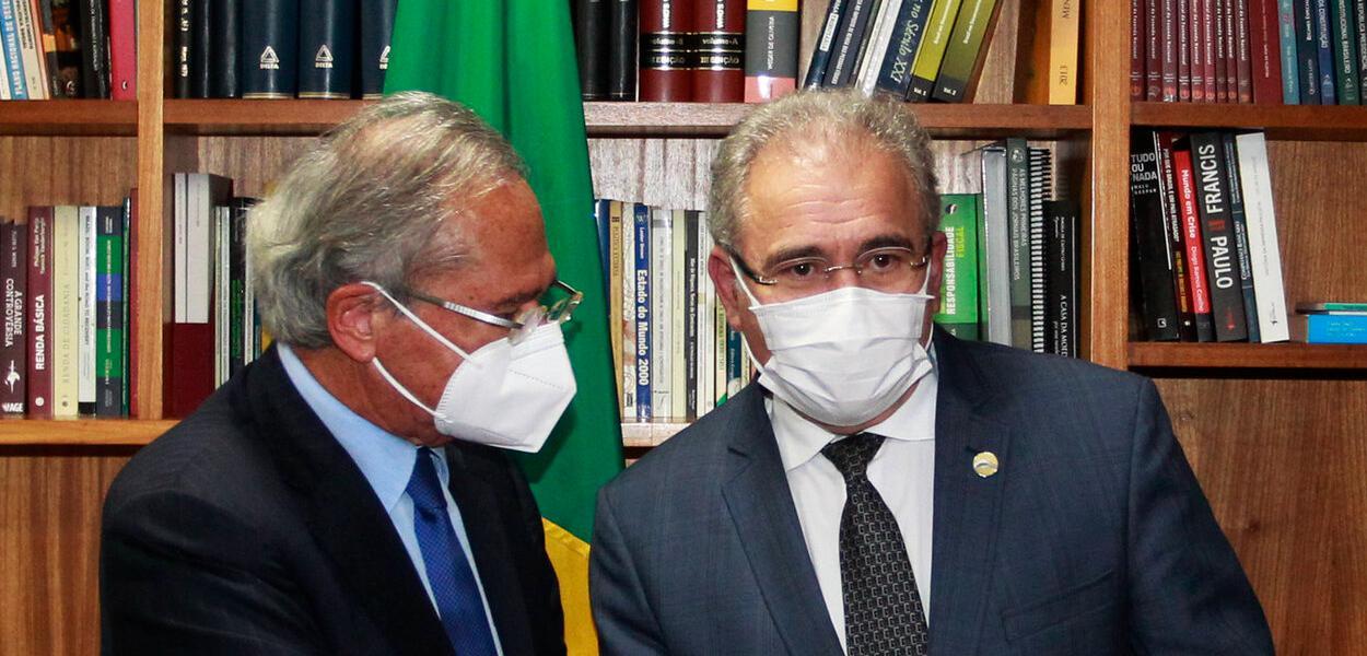 Paulo Guedes e Marcelo Queiroga