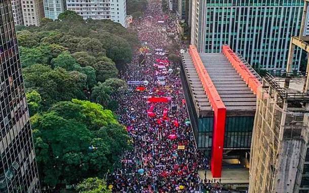 Manifestação de 29 de maio na Av. Paulista contra Bolsonaro e por vacina