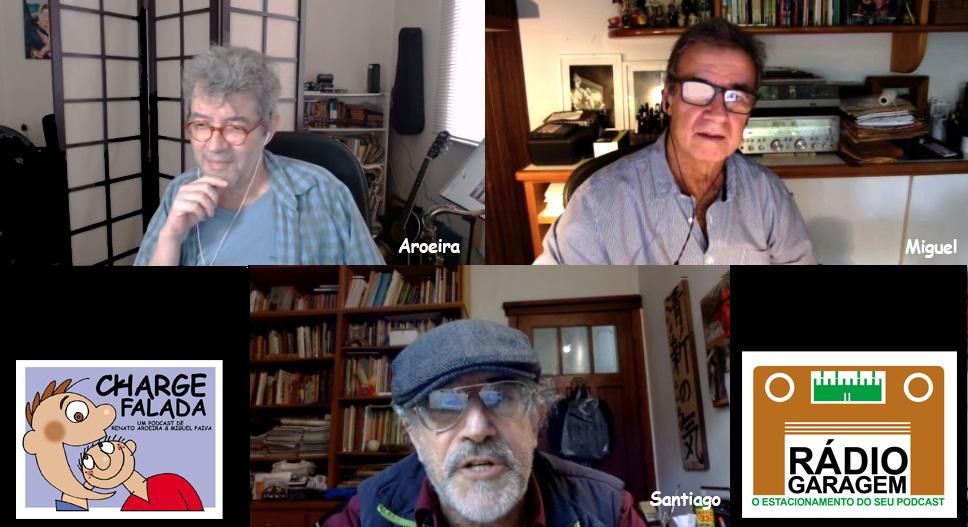 Santiago é entrevistado por Aroeira e Miguel Paiva