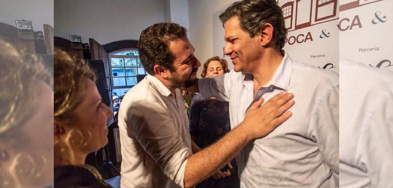 Guilherme Boulos e Fernando Haddad