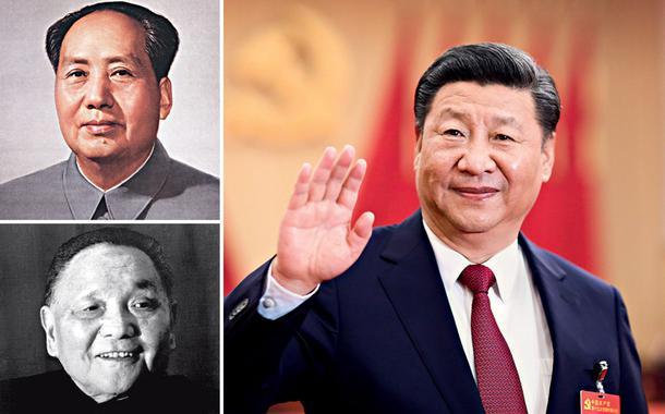 Mao Tsetung, Deng Xiaoping e Xi Jinping