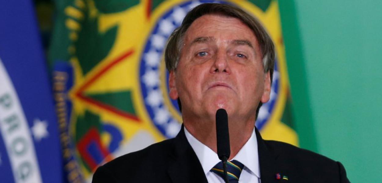 Presidente Jair Bolsonaro durante cerimônia no Palácio do Planalto10/06/2021