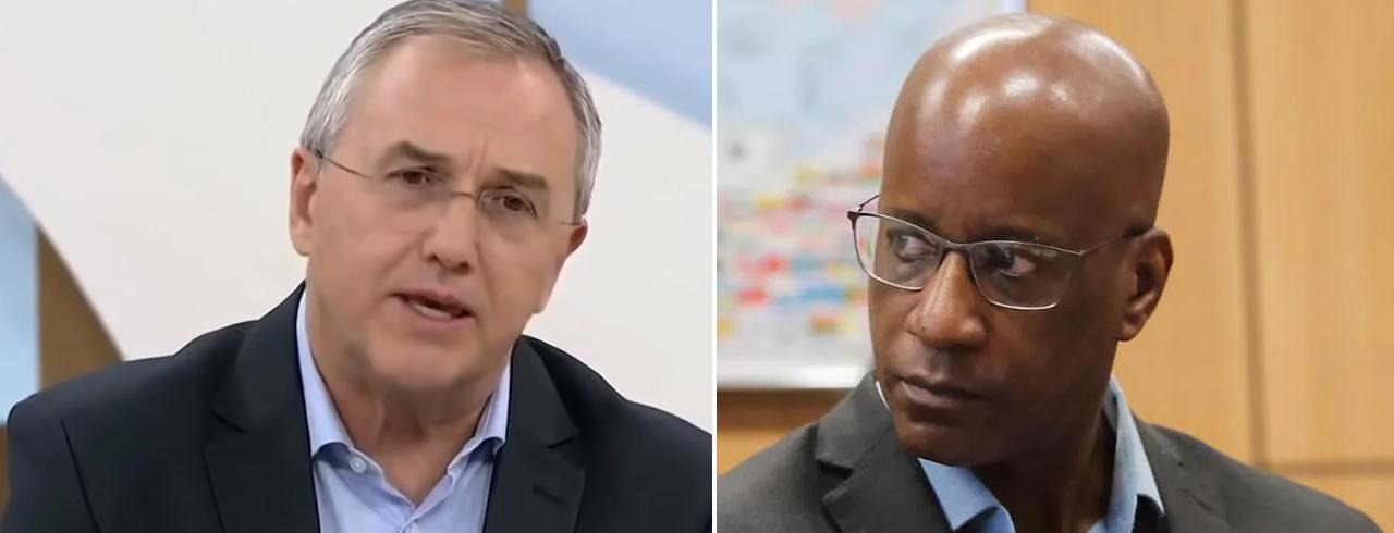 Jornalista Laurentino Gomes e o presidente da Fundação Palmares, Sérgio Camargo