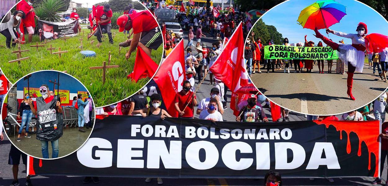 Manifestações por Fora Bolsonaro tomam o Brasil