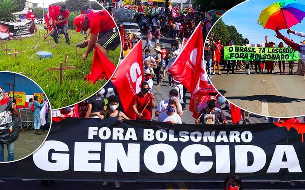 Manifestações por Fora Bolsonaro tomam o Brasil na manhã do 19J