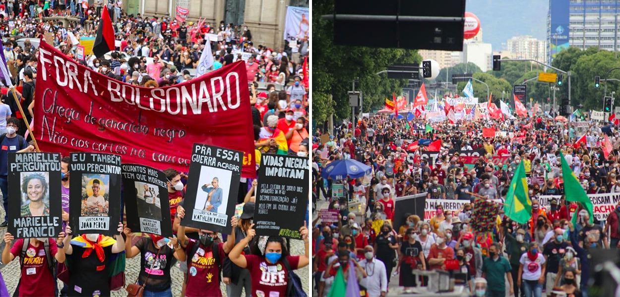 Multidão toma conta das ruas do centro do Rio
