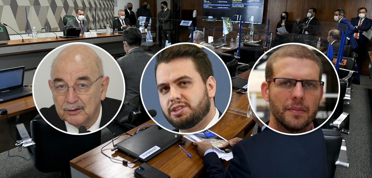 Osmar Terra, Filipe Martins e Pedro Hallal