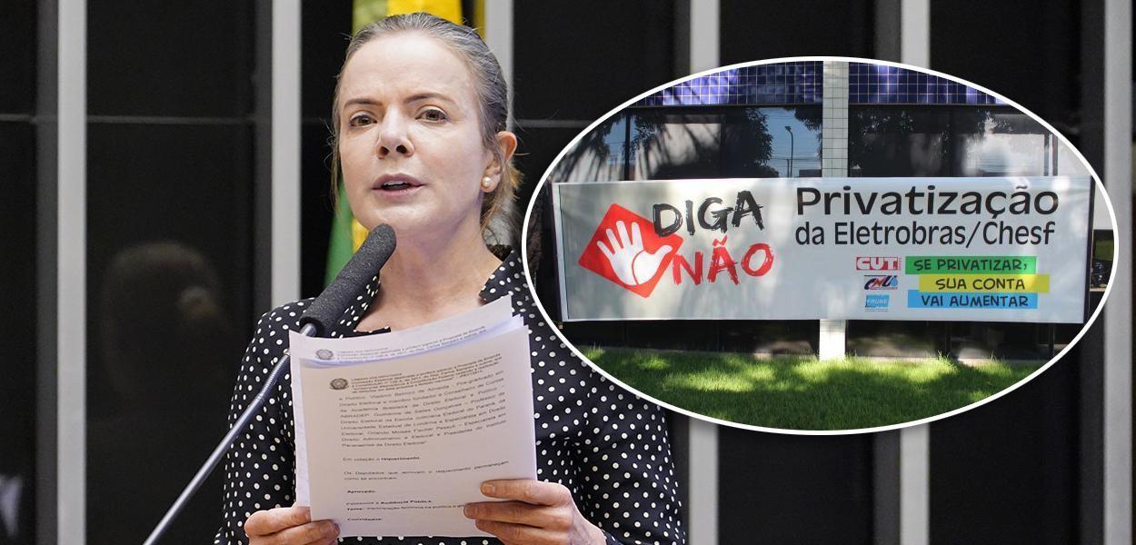 Presidente nacional do PT, deputada Gleisi Hoffmann (PR)