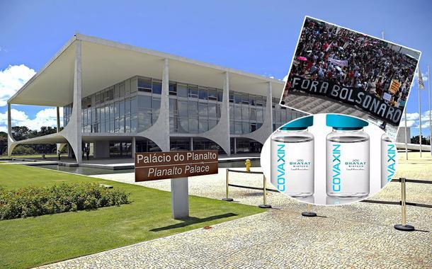Planalto, ato pelo Fora Bolsonaro e a vacina