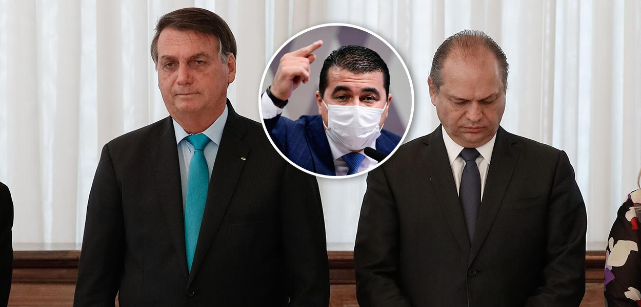 Bolsonaro, Luis Miranda e Ricardo Barros