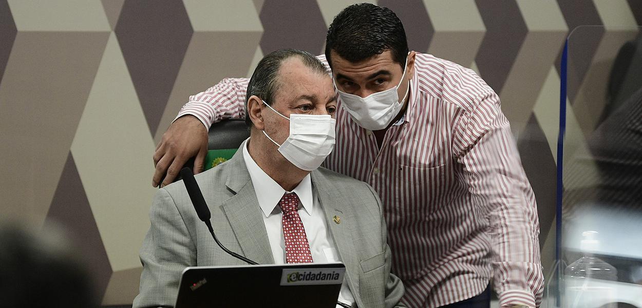 Omar Aziz e Luís Miranda