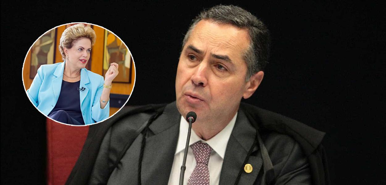 Ministro Luis Roberto Barroso e Dilma Rousseff