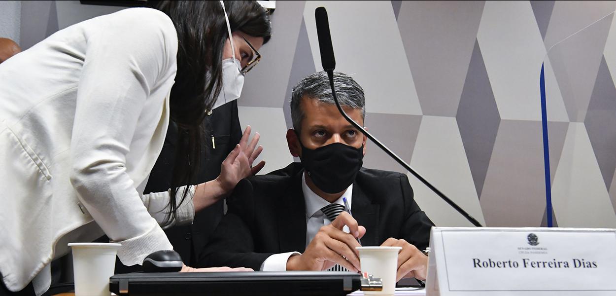 Roberto Dias em depoimento à CPI da Covid