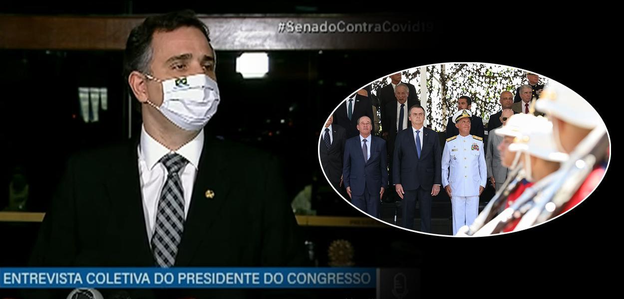 Rodrigo Pacheco, Bolsonaro e militares