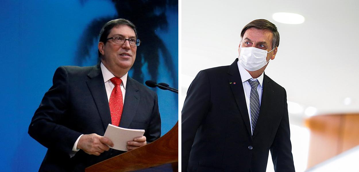 Bruno Rodríguez e Jair Bolsonaro