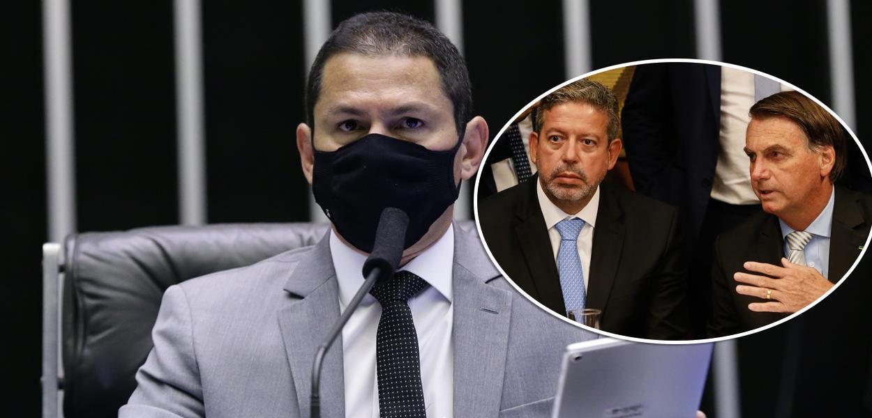 Marcelo Ramos e Arthur Lira com Bolsonaro