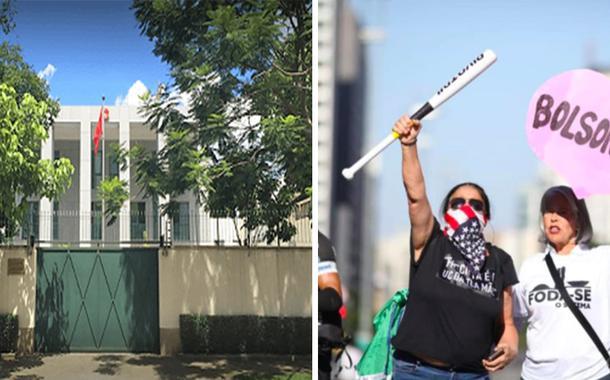O Consulado e Maria Rocha, que segura o taco (foto: reprodução)