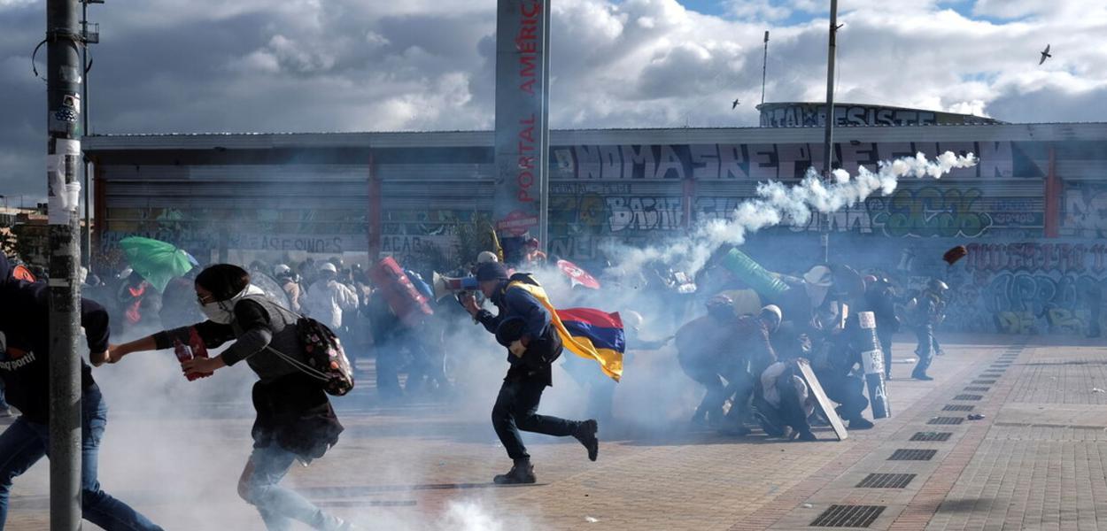 Manifestações marcaram o dia da Independência na Colômbia