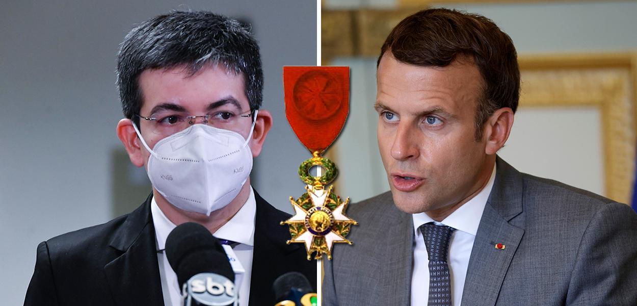 Randolfe e Macron