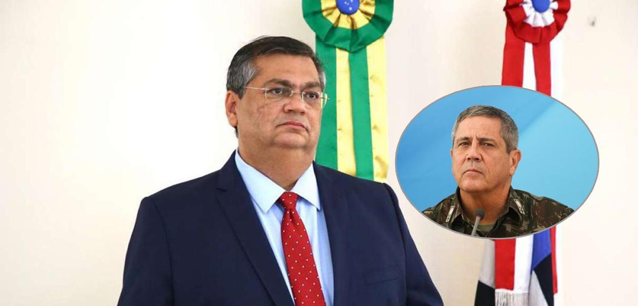 Governador do Maranhão, Flávio Dino, e o ministro Walter Braga Netto