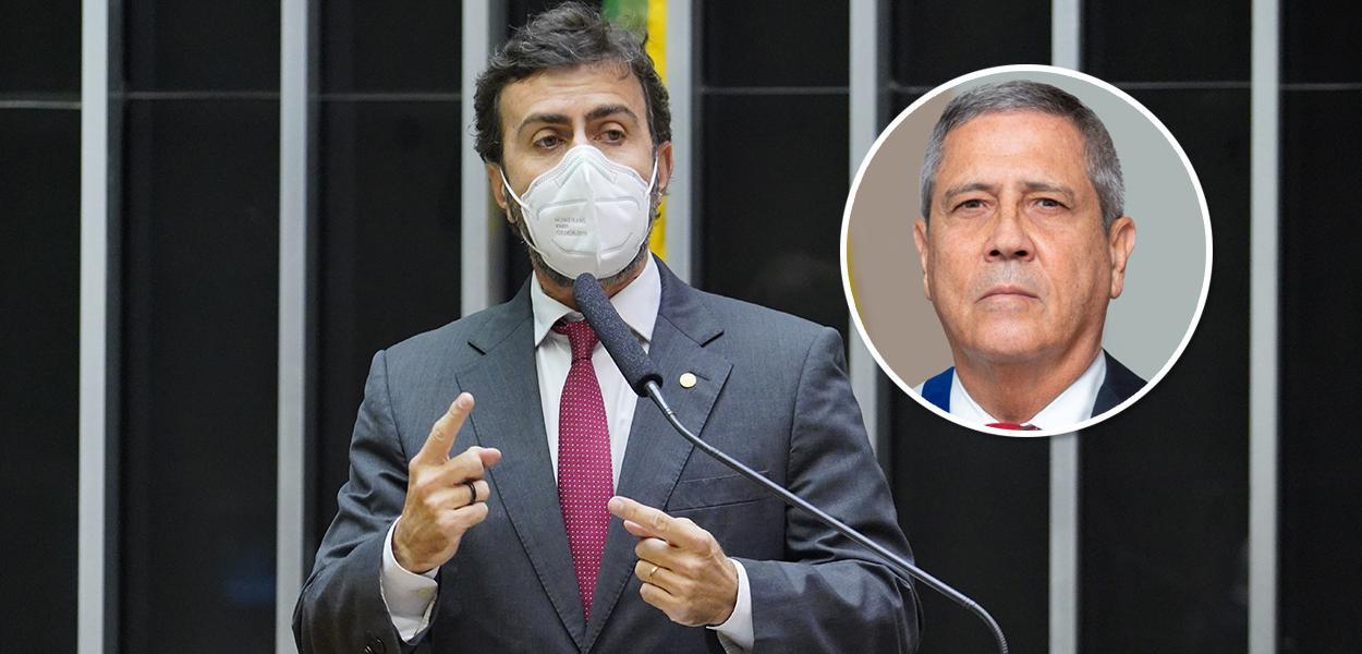 Marcelo Freixo e Braga Netto