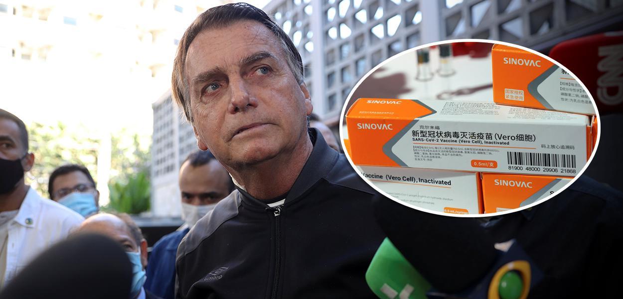 Jair Bolsonaro e CoronaVac