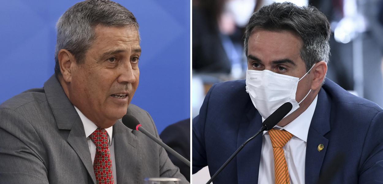 Ministro Walter Braga Netto e o senador Ciro Nogueira