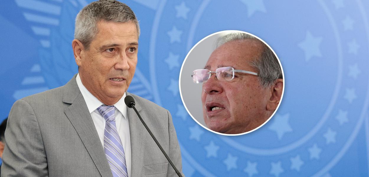Braga Netto e Paulo Guedes