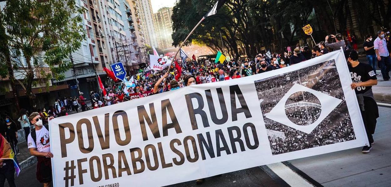 24J: Ato Fora Bolsonaro em Porto Alegre