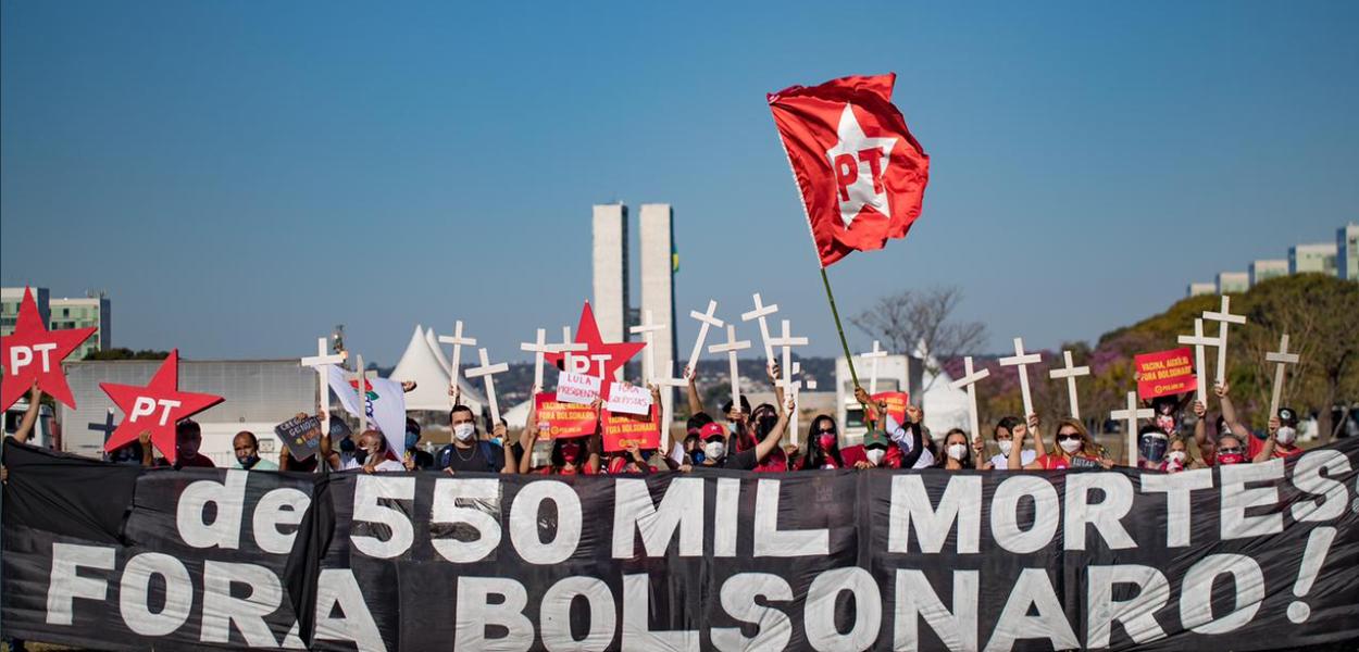Manifestação contra Bolsonaro em Brasília (24J)