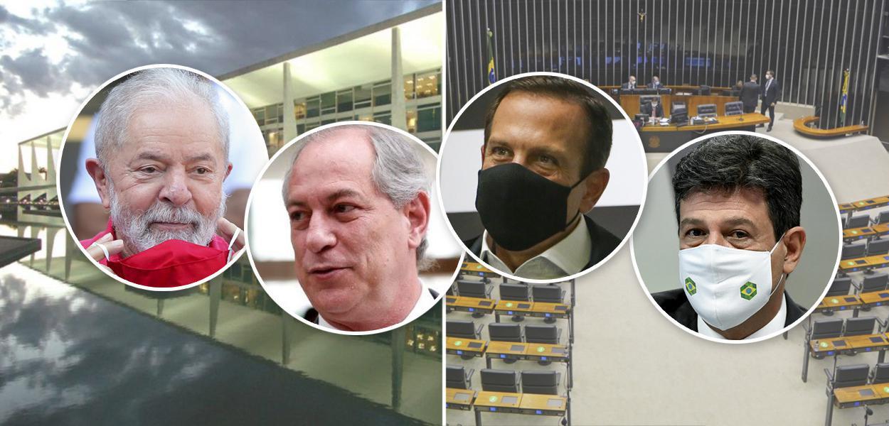 Pré-candidatos ao Planalto Lula, Ciro Gomes, João Doria e Luiz Henrique Mandetta