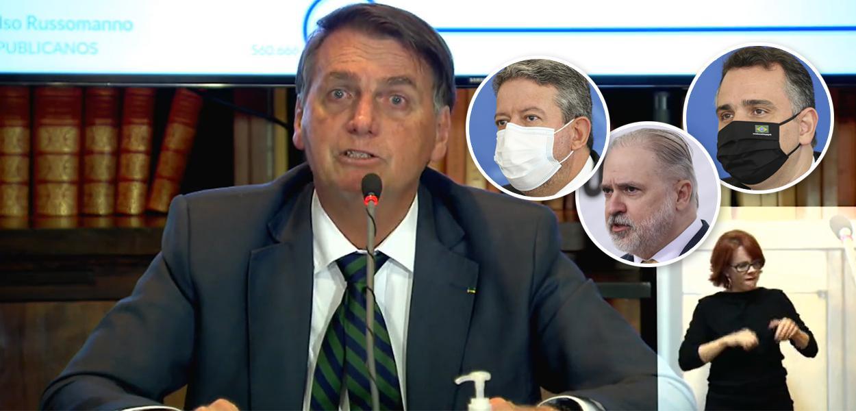 Bolsonaro, Arthur Lira, Augusto Aras e Rodrigo Pacheco