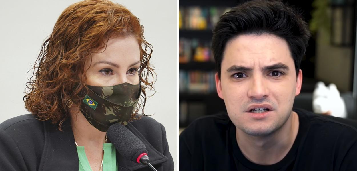 Carla Zambelli e Felipe Neto
