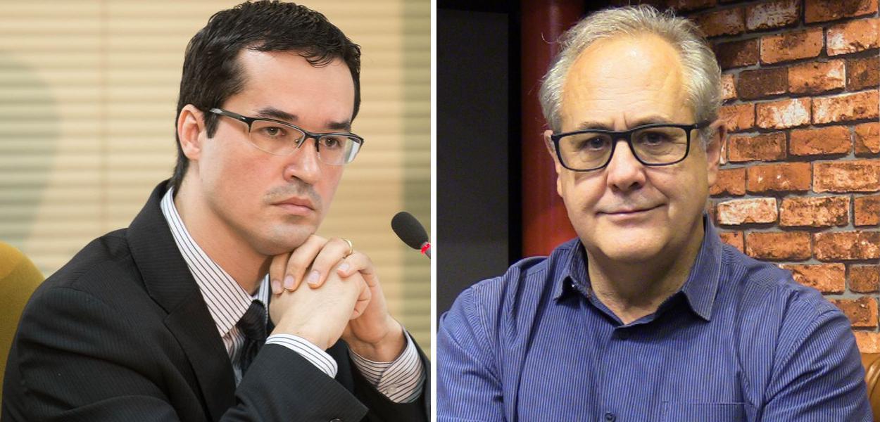 Deltan Dallagnol e Joaquim de Carvalho