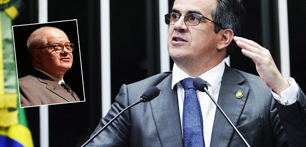 Jornalista Elio Gaspari e o ministro Ciro Nogueira (Casa Civil)