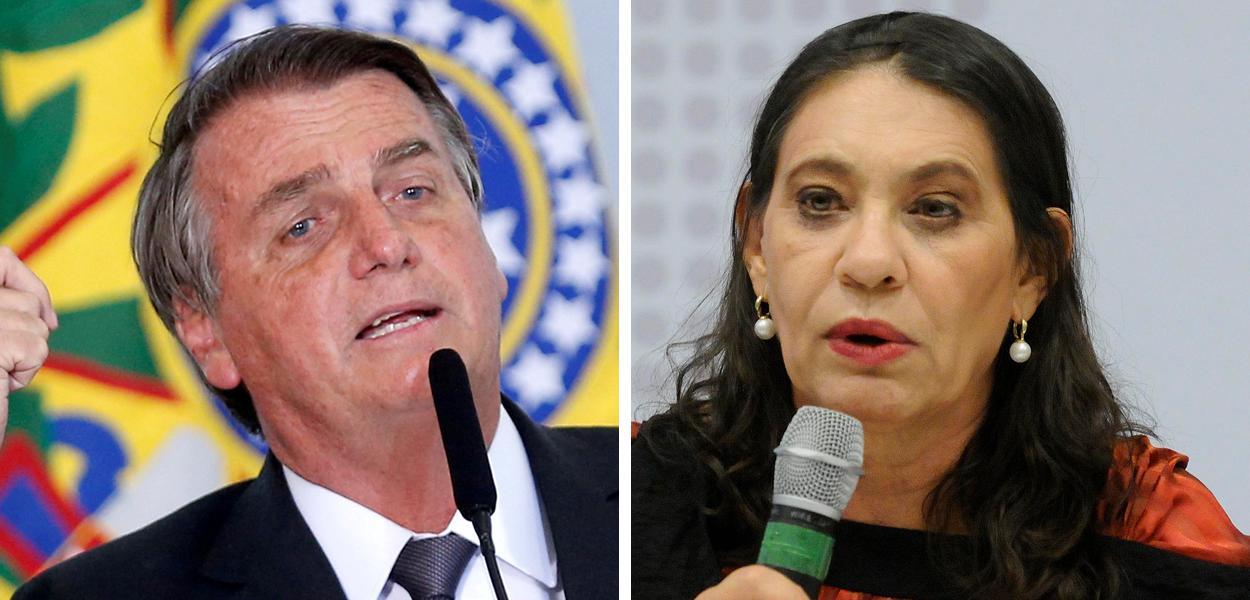Jair Bolsonaro e Tereza Cruvinel