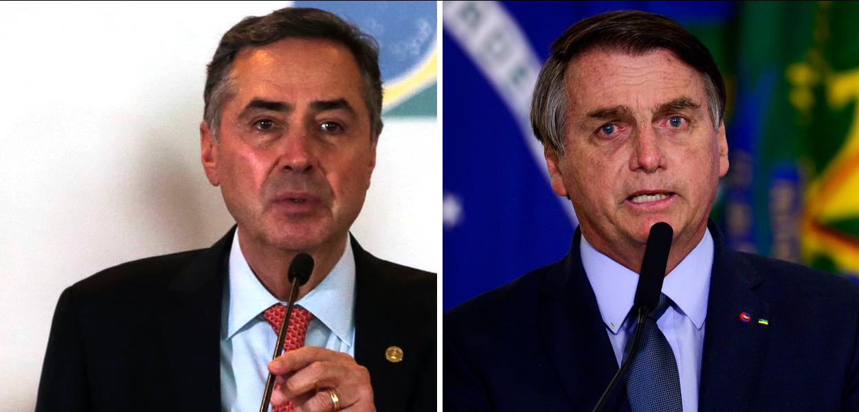 Luís Roberto Barroso e Jair Bolsonaro
